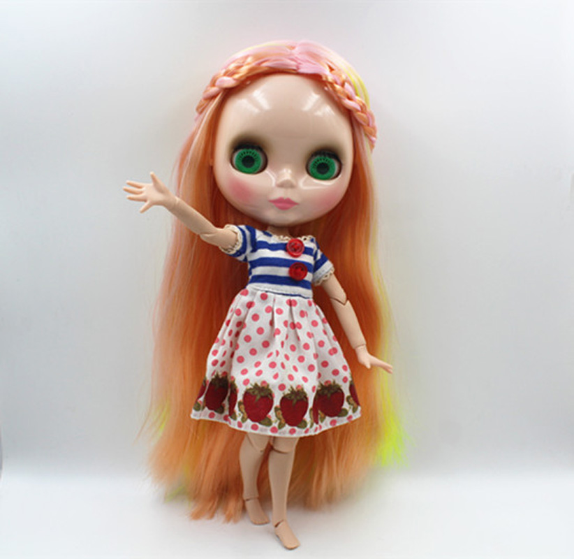 Free Shipping BJD joint RBL-362J DIY Nude Blyth doll birthday gift for girl 4 colour big eyes dolls with beautiful Hair cute toy luodoll bjd doll sd doll 1 4 girl luts hodoo bjd doll gift free eyes free make up