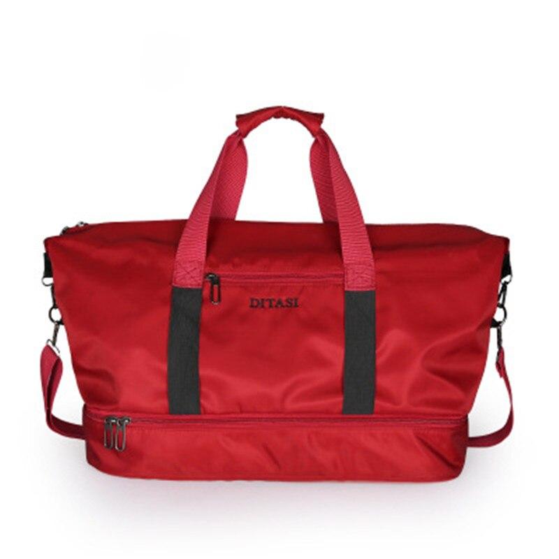 19461f1b1cdd 2018 travel luggage waterproof nylon sports bag lady duffel gym bags  handbags for women yoga mat swimming bag with shoes bag
