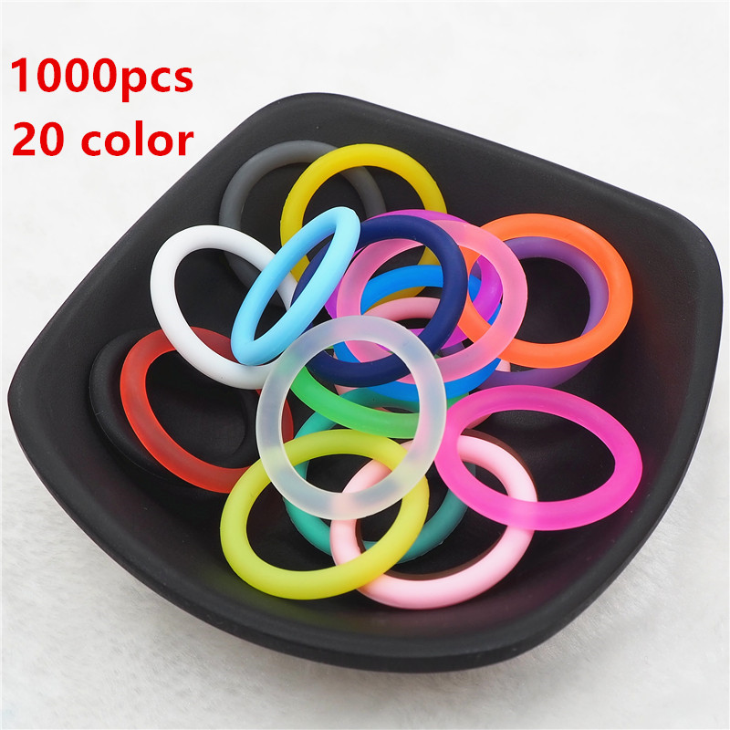Chenkai 1000pcs Silicone Adapter O Rings DIY Baby NUK MAM Pacifier Dummy Nursing Pendant Jewelry Sensory Toy Gift ID 21.5mm