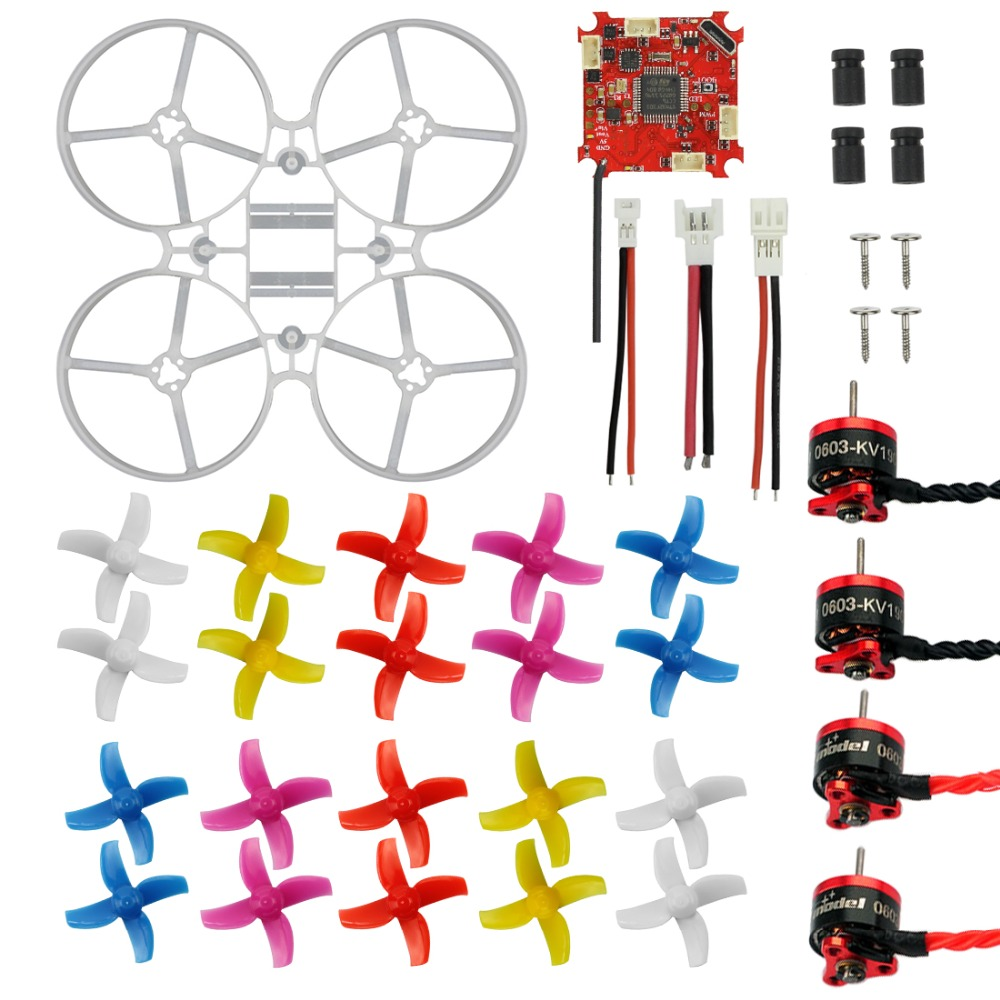 цена 75mm Mini Indoor RC Racing Drone Combo Kit Bwhoop75 Frame Kit & Crazybee F3 FC ESC & 1S KV19000 Motor & 40mm 4-Blades Propeller