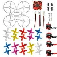 75mm Mini Indoor RC Racing Drone Combo Kit Bwhoop75 Frame Kit & Crazybee F3 FC ESC & 1S KV19000 Motor & 40mm 4 Blades Propeller