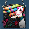 2016 Moda Saco de Ombro Das Mulheres Sacos de Bolsas de Lona de Impressão Floral Casual CrossBody Bag Mulheres Messenger Bags
