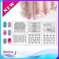 1 sheet New  Stamping Nail Art Hollow Templates Airbrush Stencils Stickers,Reusable Stamp Plates Template Guide DIY Tools