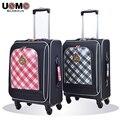 UNME студенты повседневная багажа тележки чемодан детей