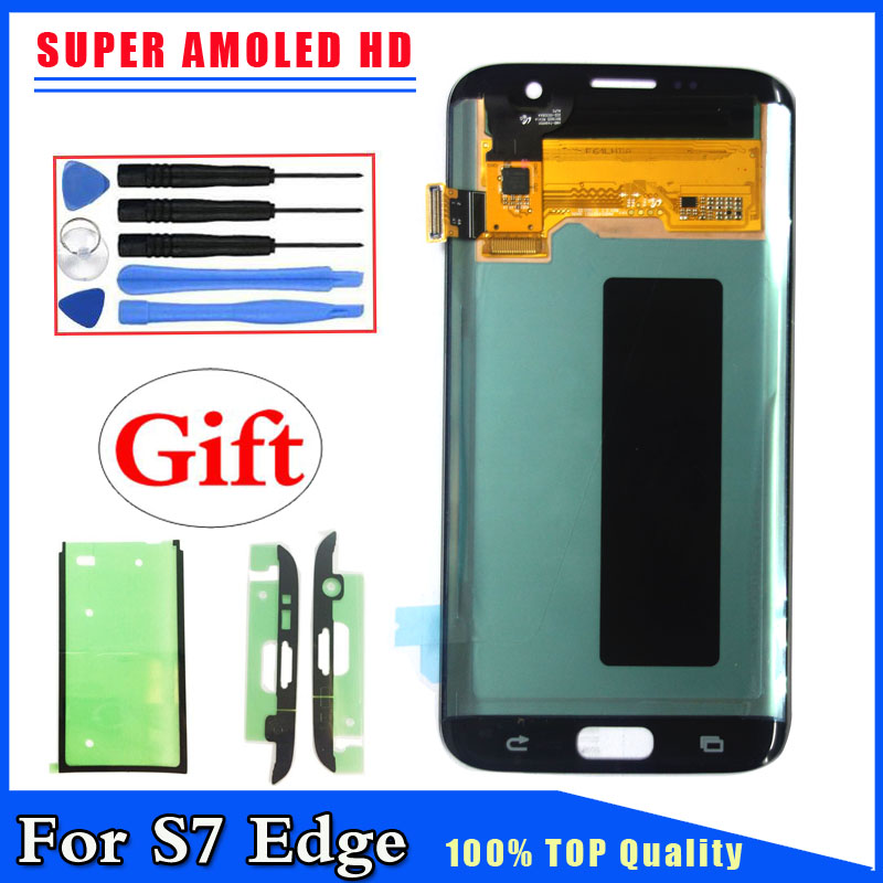 Super AMOLED LCD Display Touch Screen Digitizer For Samsung Galaxy S7 Edge G935 G935F G935FD G935A Silver,Gold,Black