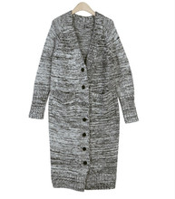 2016 autumn and winter new Korean female large code knit cardigan long wool sweater coat