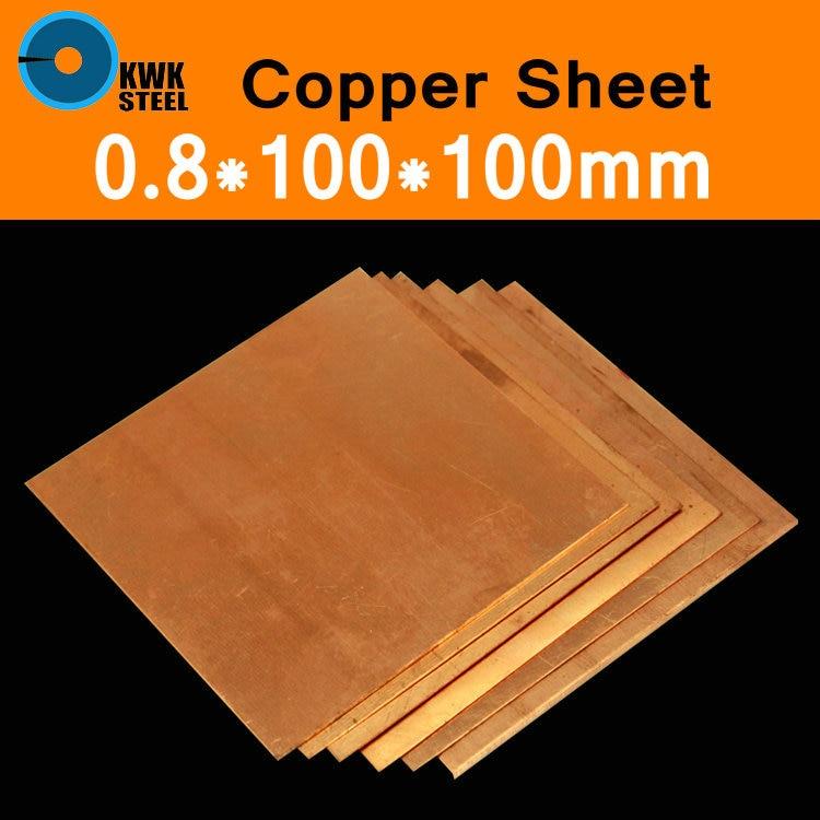 1pcs 99.9/% Pure Copper Cu Metal Sheet Foil Plate Strip 0.3mm x 50mm x 1000mm