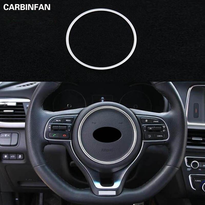 Chrome Steering Wheel Panel Cover Trim Badge Ring Bezel For Kia Optima 2016-2018