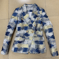 EXCELLENT QUALITY Stylish 2019 Designer Blazer for Women Ladies Colorful Painting Draw Jacquard Blazer Jacket