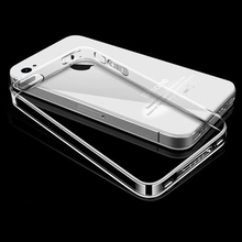 Esamday For i4 4s Ultra Thin Soft TPU Gel Original Transparent Case For iPhone 4 4S
