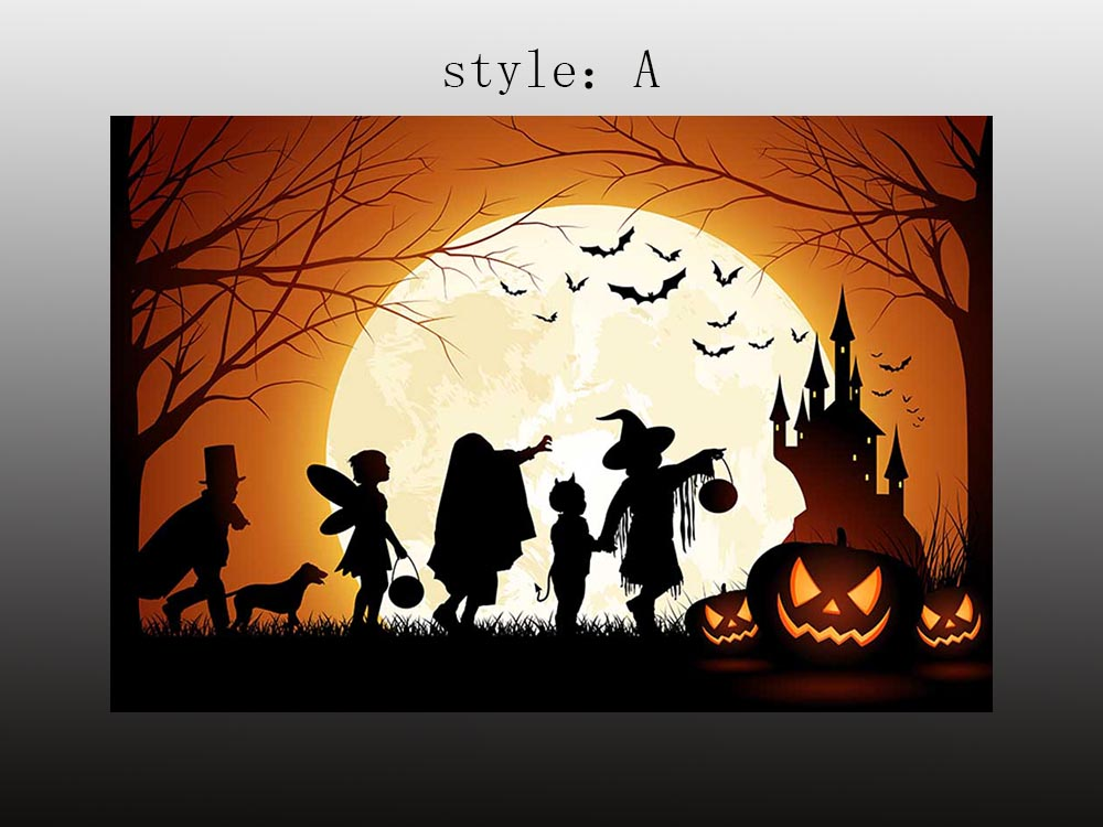 Pumpkin blame Halloween party art wall decor Oil painting Printed on canvas