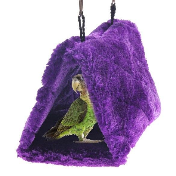 Új érkezés Parrot madárfészek fészer függőágy bolyhos meleg - Pet termékek