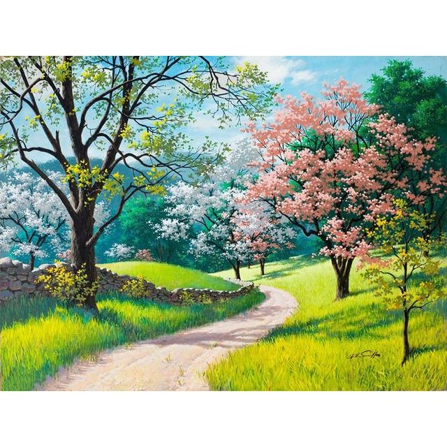 Unduh 710+ Gambar Lukisan Taman Bunga Sakura HD Terbaru