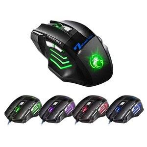 Image 5 - Kotion כל G9000 משחקי אוזניות סטריאו העמוק בס אוזניות עם מיקרופון LED אור + אופטי 5500DPI משחקי עכבר + משטח עכבר לגיימר