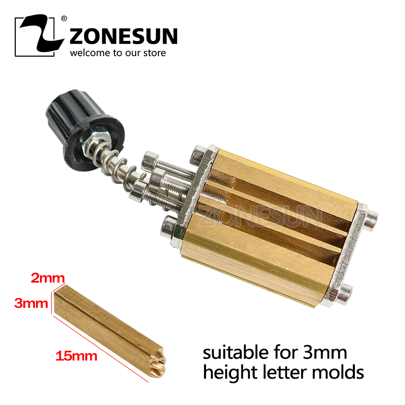 ZONESUN Mould holder of ribbon printer LT-50D coding device heat head of stamping printer heat block of printer letter die cave