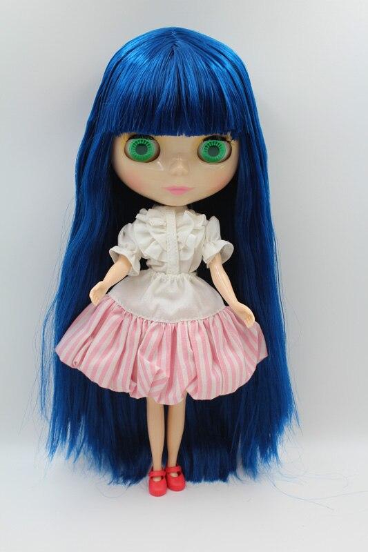 Free Shipping big discount RBL-288DIY Nude Blyth doll birthday gift for girl 4colour big eyes dolls with beautiful Hair cute toy