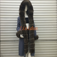 2018 fox fur coat, dress, womens clothing, long hair liner, Parker, and otter rabbit new coat