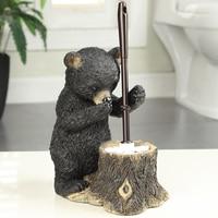 European creative toilet brush set soft base plastic long handle toilet brush toilet bear decoration LO524319