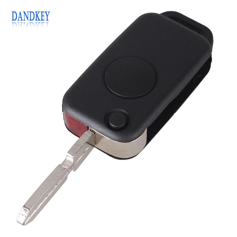 Dandkey 10X Flip Folding 1 Button For Mercedes Benz C E S ML SL ML55 AMG S500 SL500 Keyless Entry Remote Key Fob Case Shell