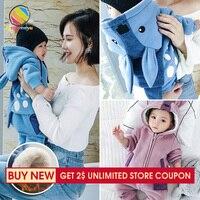 Lemonmiyu Baby Girl Boy Newborn Clothes Cute Cartoon Warm Baby Boys 2pcs Outfits Cotton Hooded Infant Unisex Long Sleeve Suits