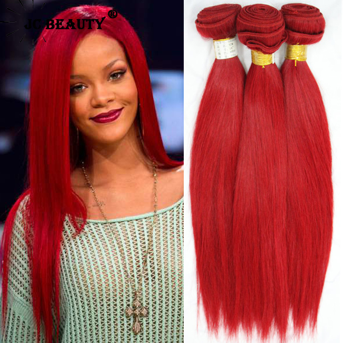 Hot red remy human hair weave 6a unprocessed brazilian hair hot red remy human hair weave 6a unprocessed brazilian hair straight mixed size real brazilian human hair extensions 3pcs lot in hair weaves from hair pmusecretfo Choice Image