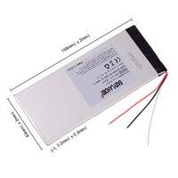 NTC-batería recargable de polímero de litio para Tablet, PC CHUWI Hi8 hi8 pro xv8 DVD DVR 3263156, 3 cables, 3,7, 5000 V, 3565155 mAh