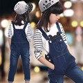 Crianças Meninas Jumpsuit Macacão Jeans Primavera Autum Meninas Macacões Infantis Calças Jeans Menina Macacão Crianças Roupas SYHB1721402