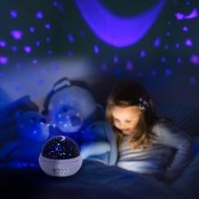 Rose Star Moon Sky Rotating Projector Night Light