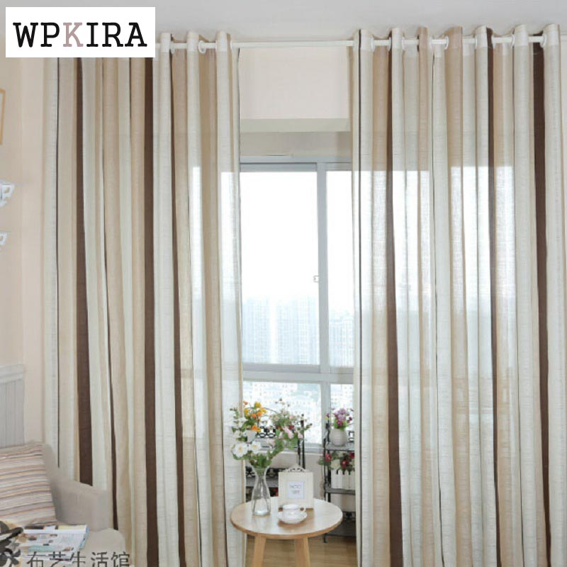 Discount Kitchen Curtains Cabinet Lighting Fashion Stripe Rustic Curtain Yarn Bedroom Living Room ...
