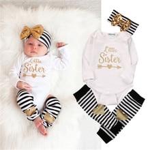 Casual 3pcs Newborn Kids Baby Girl Infant Romper Jumpsuit Bodysuit Clothes Outfit Set