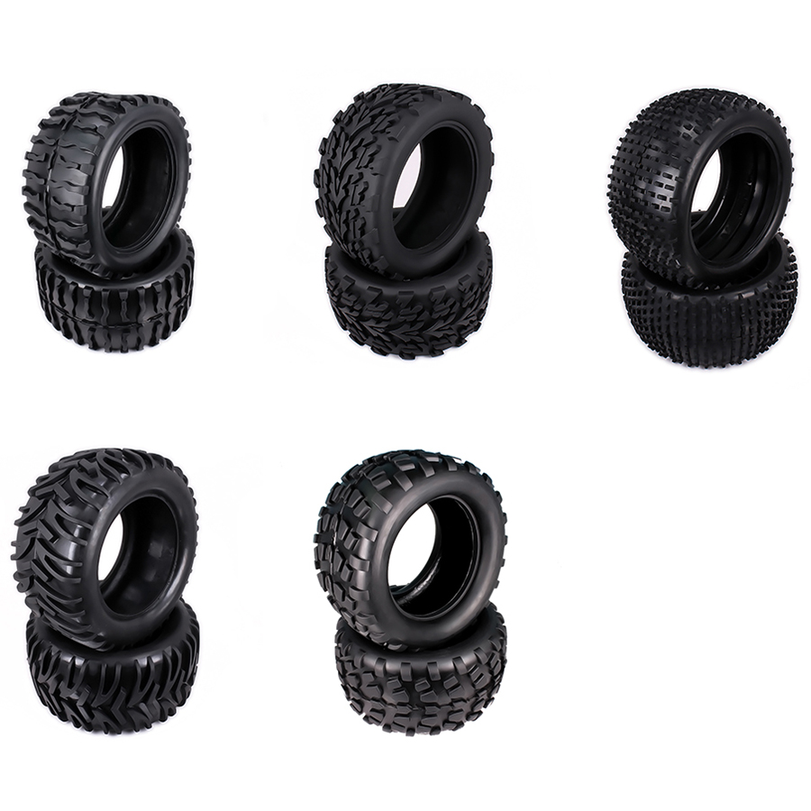 2PCS Natural Rubber Tire Tyre For Rc Hobby Car 1/10 Monster Truck Big Foot Truggy HSP Himoto HPI Traxxas Redcat Kyosho Wheel Rim hsp rc car 1 16 electric power remote control car 94186 rtr 4wd off road monster truck kidking similar himoto redcat hobby car