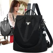 Anti-theft shoulder bag woman  new Korean version of large capacity college schoolbag sequined Oxford cloth leisure travel цена 2017