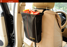 New car styling Car Covers Seat Storage bag Waterproof Folding Oxford Back Hanging Organizer  For Children Trash Snack