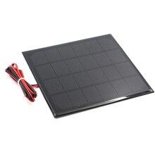 6V Solar Panel with 30/100/200cm wire Mini Solar System DIY For Battery Cell Phone Charger 0.6W 1W 1.1W 2W 3W 3.5W 4.5W Solar