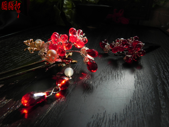 ФОТО Xi Mei Nian Yi Colored glaze Plum Blossom classical hairpin vintage hair stick  hair accessory hair stick