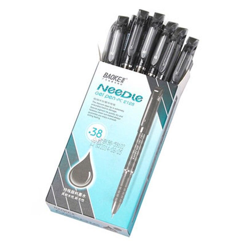 BAOKE PC2128 extremely fine office neutral pen, 0.38mm signature pen, student test pen baoke pop pen student art advertisement mark pen art design poster pen