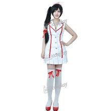 Anime Nurse Akali Cosplay de LOL fiesta de Halloween vestido de ropa de mujer