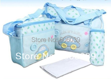 free shipping 4pcs/set multifunction mother bags diaper bags sets mommy bag  nappy bag