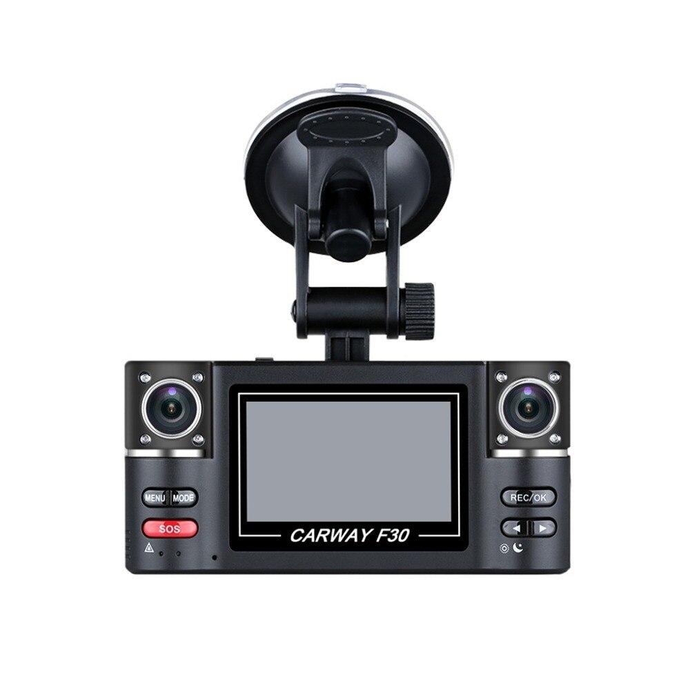 2.7 voiture DVR double lentille voiture véhicule 1080 P HD Dash Cam voiture caméra Vision nocturne enregistreur 360 degrés Carway F30 voiture enregistreur de conduite