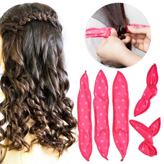 10 Pcs DIY Soft Hair Curler Rollers