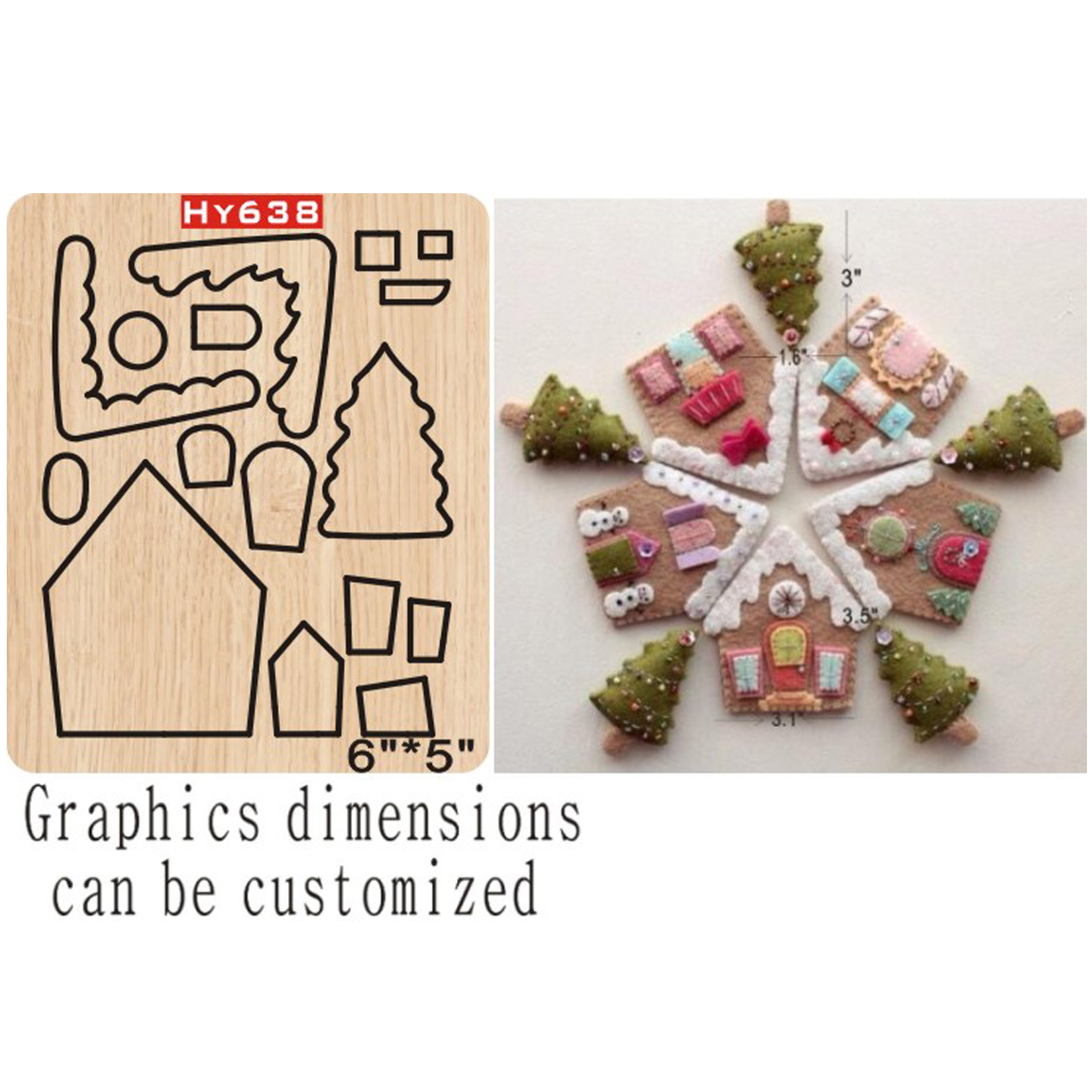 Christmas Decoration Cottage Cutting Dies 2019 New Die Cut &wooden Dies Suitable  For Common Die Cutting  Machines On The Market