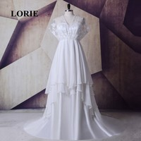 LORIE Plus Size Evening Dresses Mother Of The Bride Dress V Neck Beaded With Pearl A