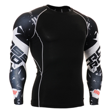 Men soccer football shirts underwear tights jersey quality compression shirt base layer skin Fitness Excercise wear clothes