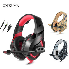 ONIKUMA K1 Camouflage Gaming Headsets with Mic Stereo Wired Earphones Deep Bass PS4 Headphones for Laptop New X-BOX PC Gamer