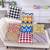 Hongbo 1 Pcs Home National Style Pillow Cases Creative Cotton Embroidery Grid Pillowcase Pillow Covers One