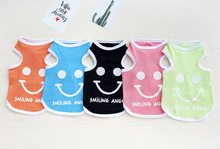 Dogbaby pet clothes, dog smile vests.