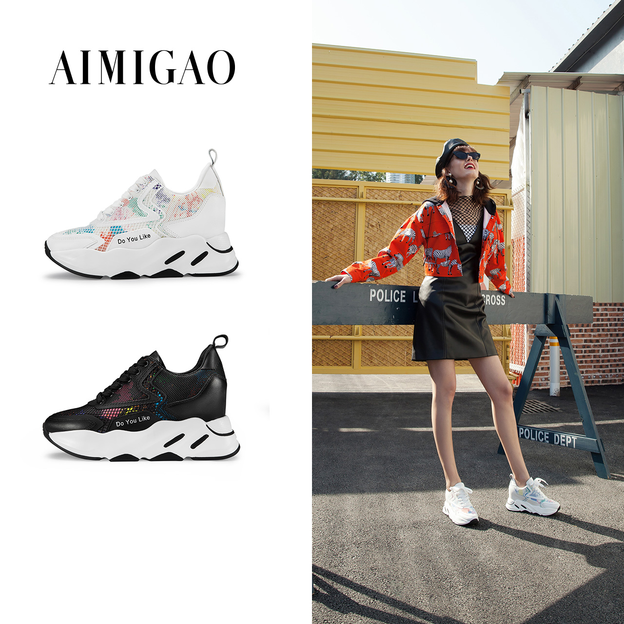 AIMIGAO Luxury Fashion Women Casual Lace-Up Sneakers Designers Flat Platform Comfortable Shoes Leather Women Casual Shoes 2018 minika new arrival 2017 casual shoes women multicolor optional comfortable women flat shoes fashion patchwork platform shoes