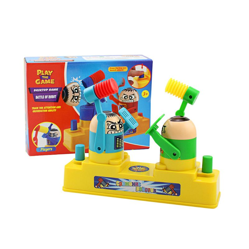Double Battle Board Interactive Table Game Hammer Robot Puzzle Toys For Kids Adults Pressure Reduction(China)