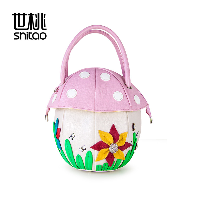 Здесь продается  Bag fashionable woman Stereo mushroom bag Diamond flowers Women