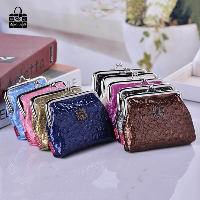 RoseDiary Women Cute Stone Coin Purse PU Leather Small Clutch Wristlet lady Wallet Girls Change Pocket Pouch Hasp Bag  Keys Case 2016 fashion spring and summer crocodile pattern japanned leather patent leather handbag one shoulder cross body bag for women